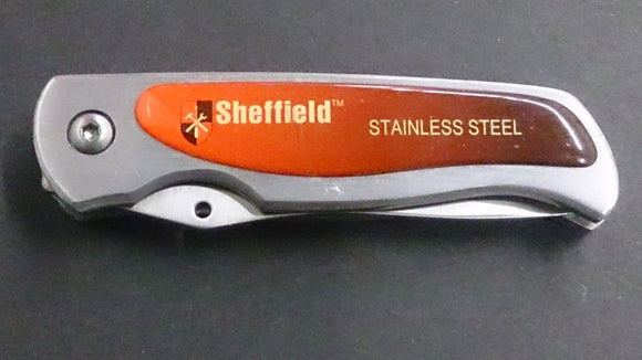 Sheffield Pocket Knife, Folding Serrated Blade, Stainless Steel - Roadshow Collectibles