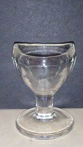 Clear Glass Eye Wash Cup with Inscription 15 Stamped On Bottom - Roadshow Collectibles