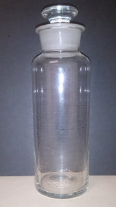 Apothecary Clear Glass Bottle Container, Used For Crude Drugs, 1800's - Roadshow Collectibles