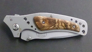 Frost Folding Pocket Knife, Locked Blade, Stainless Steel, Pocket Clip - Roadshow Collectibles