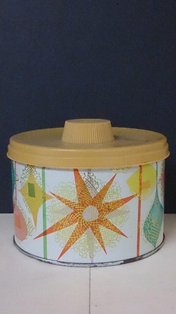 Mrs Leland's Old Fashioned Candy Tin, Colours and Patterns Of The 60s - Roadshow Collectibles