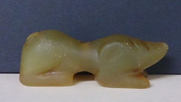 Correya Dog Amulet, Sleeping, Hand Carved In Jade, Chinese - Roadshow Collectibles