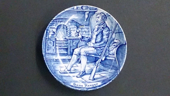 Enoch Wedgwood Blue, White Transferware Mini Plate Game Keeper England - Roadshow Collectibles