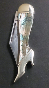 Rough Rider Folding Pocket Knife, Leg Shaped, Marbled Design - Roadshow Collectibles