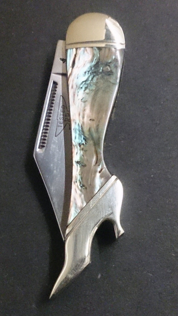 Rough Rider Pocket Knife, Leg Shaped, Marbled Design - Roadshow Collectibles