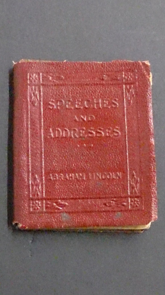 Leather Bound Book Entitled Speeches and Addresses of Abraham Lincoln - Roadshow Collectibles