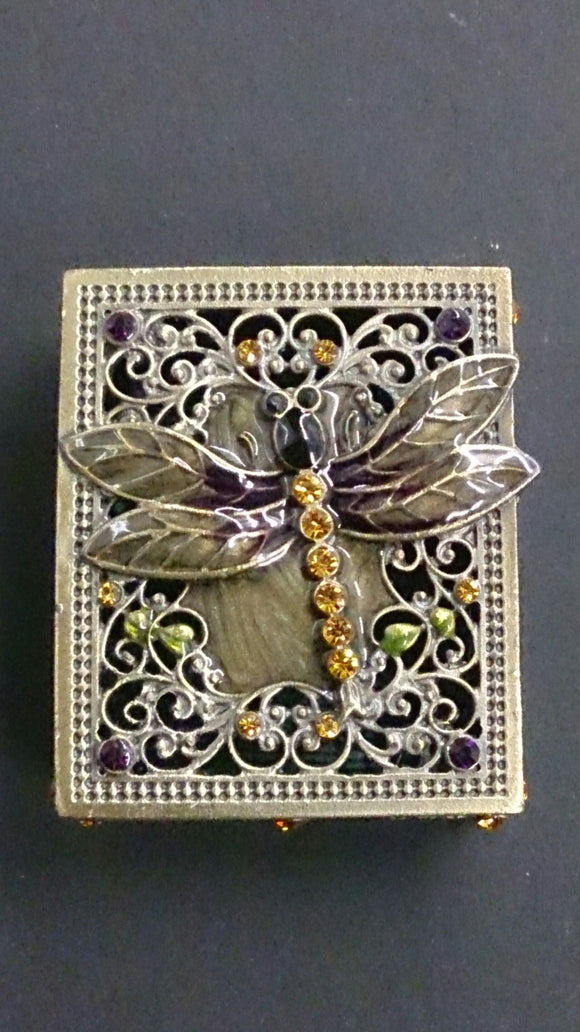 Beautifully Detailed Jeweled Dragonfly Jewelry Box - Roadshow Collectibles