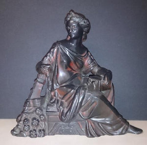Ansonia Spelter Statue Clock Topper/Greek Goddess Pandora/Mythical Box - Roadshow Collectibles