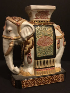 Rare Vietnamese Signed Hand Painted Porcelain Elephant Stool - Roadshow Collectibles