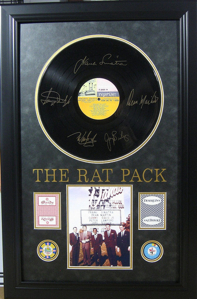 Rat Pack Sands Hotel Photo Framed With Casino Card And Poker Chip Toupagroup Com