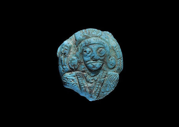 1st Century BC-1st Century AD. Section Glass Plaque with a High-Relief Image of a Female W/Elaborate Diadem Necklace - Roadshow Collectibles