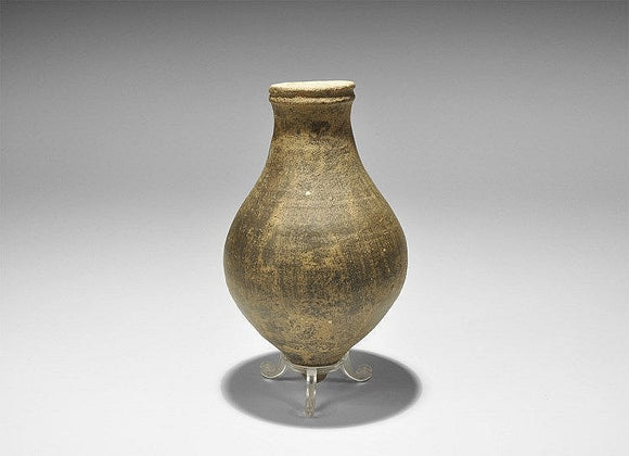 Roman Piriform Vessel Black Burnished Bulbous Body 2nd-3rd Century AD - Roadshow Collectibles
