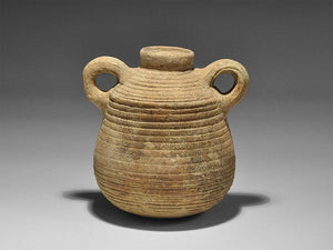 Squat Clay Jar Ribbing Raised Rim Two Handles 1st Century BC Jerusalem - Roadshow Collectibles