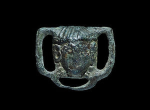 Roman Strap Junction Facing Mask, Cast In Bronze, 4th Century AD - Roadshow Collectibles