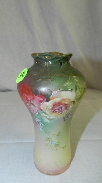 Royal Bayreuth Porcelain Vase Hand-Painted Floral Design From Germany - Roadshow Collectibles