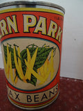 Salesman's Sample Tin Food Can Labeled 'Fern Park' Brand Whole Wax Beans - Roadshow Collectibles