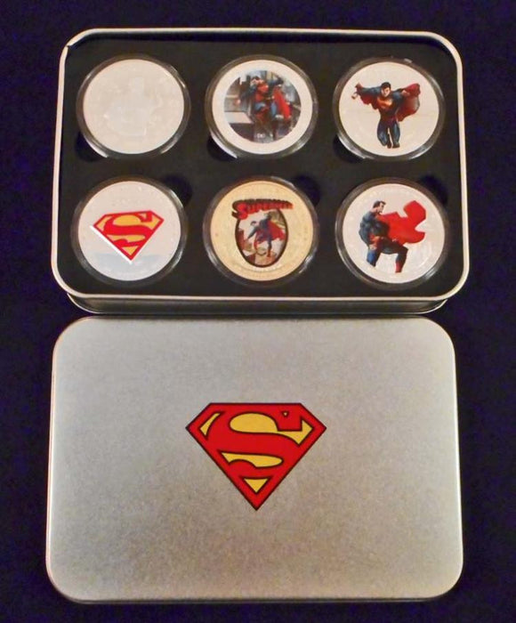 Superman Commemorative Collectors Coin Set of Six - Roadshow Collectibles