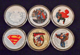 Superman Commemorative Collectors Coin Set Of Six, with Display Box - Roadshow Collectibles