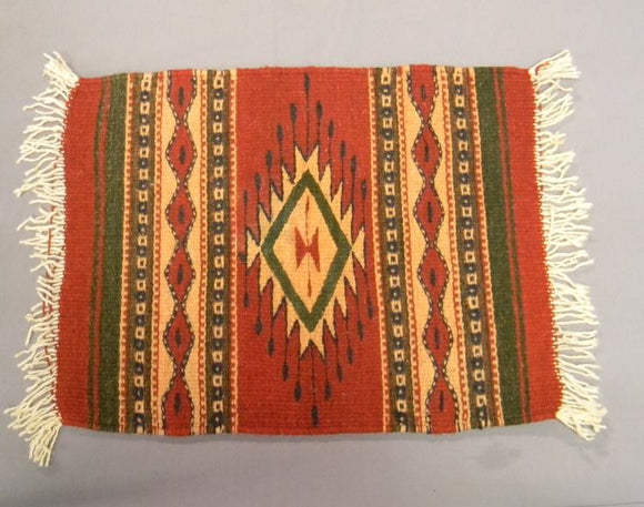 Zapotec Woven Rug Geometric Patterns and Neutral Dyes Southern Mexico  - Roadshow Collectibles