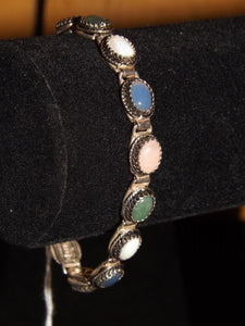 Bracelet, Sterling Silver, Multi-Coloured Stones - Roadshow Collectibles