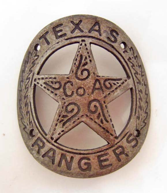 Texas Ranger Co. A Gun Butt Tag, Replica - Roadshow Collectibles