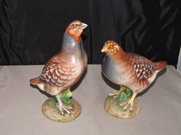 Grouse Game Birds Two KB Porcelain Hand Painted By Ugo Zaccagnini Italy - Roadshow Collectibles