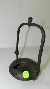French Cast Iron Hanging Whale Oil Lamp Clozet S Etienne 19th-Century - Roadshow Collectibles