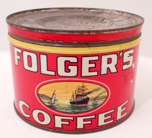 Folger's Coffee Advertising Tin - Roadshow Collectibles