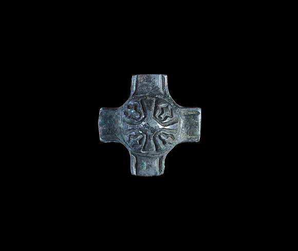 Viking Bronze Strap Cruciform Junction Mount, 10th-12th Century AD - Roadshow Collectibles