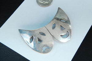 Brooch, Theater Masks, Sterling Silver, Made in Mexico - Roadshow Collectibles
