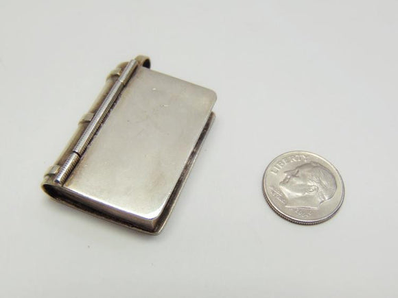 Sterling Silver Book Pill Box - Roadshow Collectibles