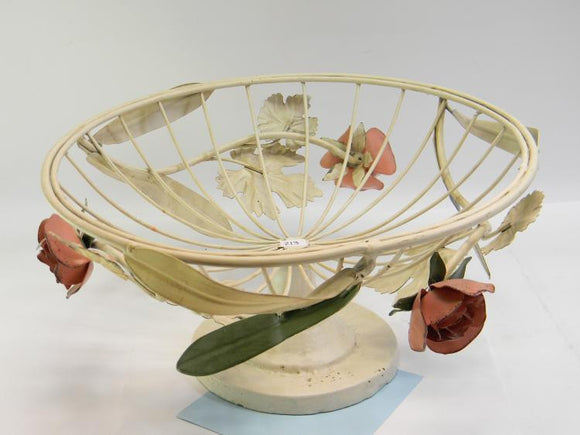 Rose Bowl, Metal Wire with a Round Base Pedestal - Roadshow Collectibles