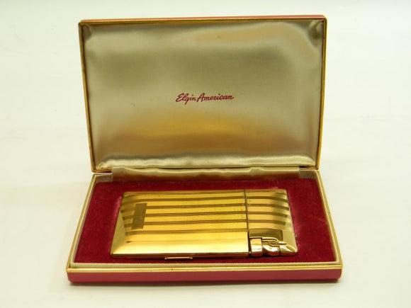 Vintage Elgin American Lighter & Cigarette Case with the Engraved Name