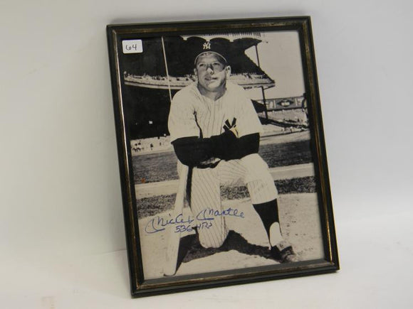 Mickey Mantle Signed Framed Photograph - Roadshow Collectibles