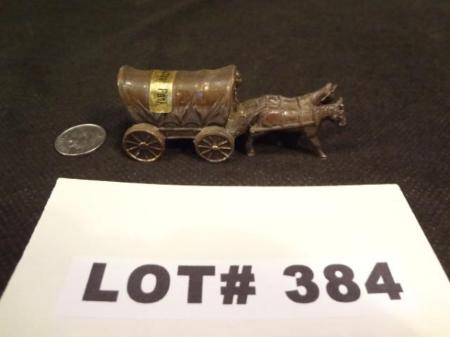 Yellowstone Park Souvenir Of Wagon and Horses, Brass - Roadshow Collectibles