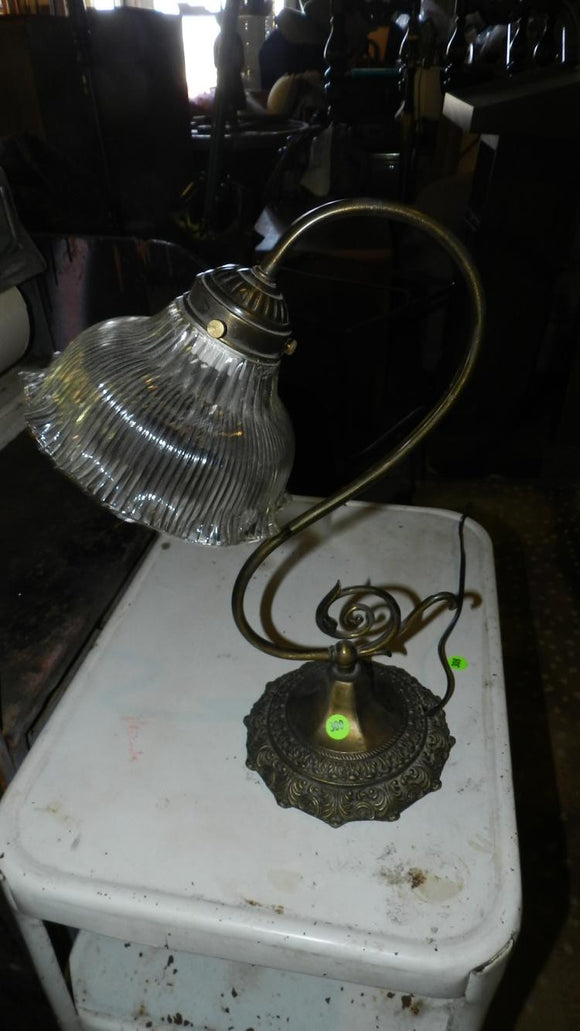 Vintage Brass Gooseneck Table Lamp - Roadshow Collectibles