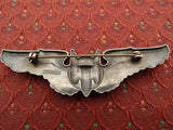 US Army WW2 Air Corps Aerial Gunners Wings, Uniform Pin, Sterling - Roadshow Collectibles