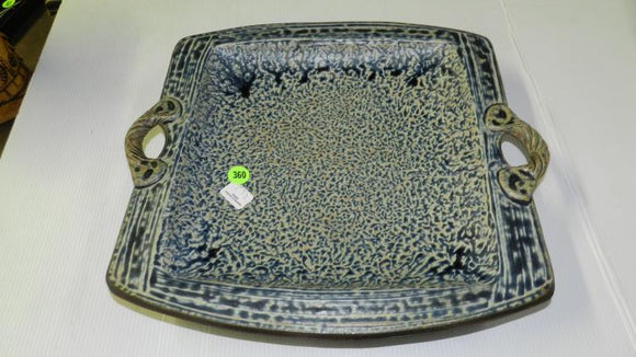 Studio Pottery Serving Platter, Large, Signed - Roadshow Collectibles