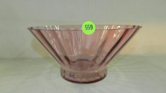 Fenton Art Glass Cranberry Rippled Bowl, Base, Body and Lip - Roadshow Collectibles