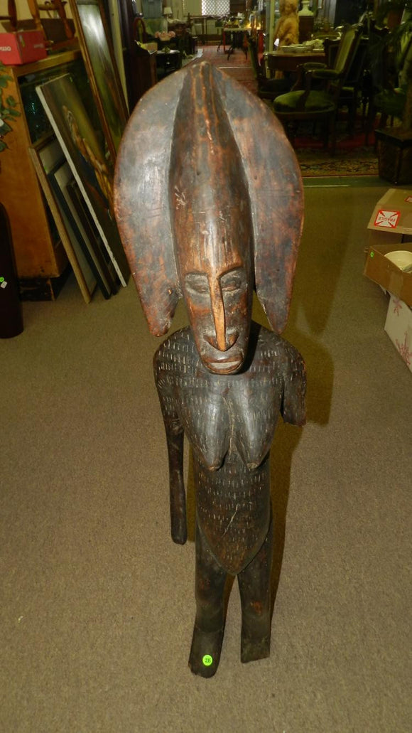African, Bougouni Mali, Hand Carved, Bamana Female Figure, Large Piece - Roadshow Collectibles