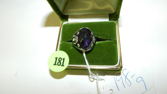 Large Sterling Silver Amethyst Ring - Roadshow Collectibles