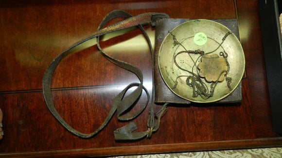 Chinese Portable Scale with Original Leather Pouch - Roadshow Collectibles