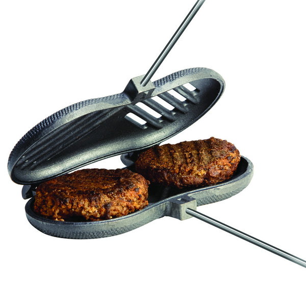 ROME 1525 Double Burger Griller - Cast Iron