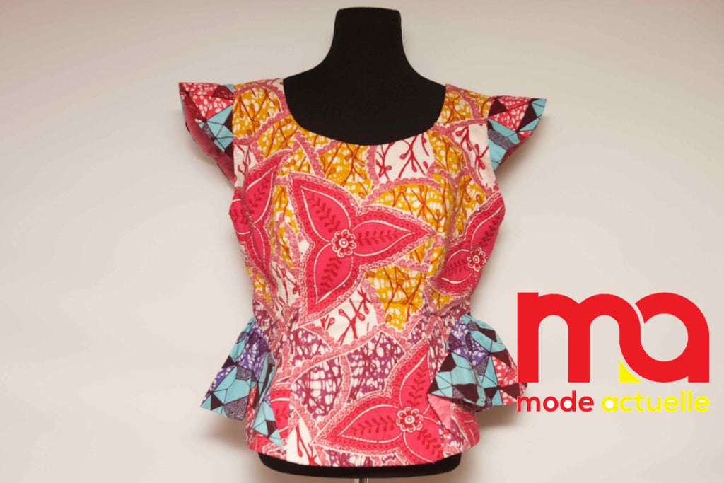 Stoned Sleeveless Ankara Top P&P