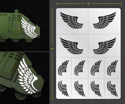 Wings Airbrush Stencil