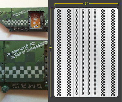 Checkers Airbrush Stencil
