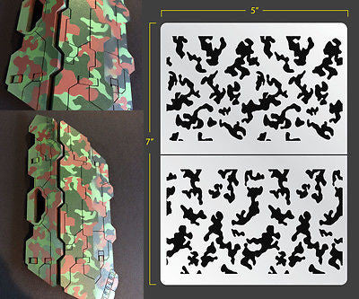 Traditional Camo Airbrush Stencil