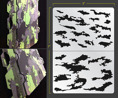 photograph relating to Free Printable Camo Stencils for Guns named Stencils  FALLOUT HOBBIES