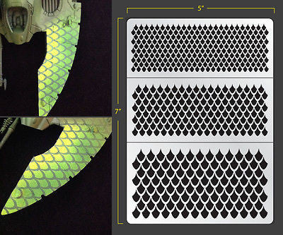 Dragon Scales 002 Airbrush Stencil
