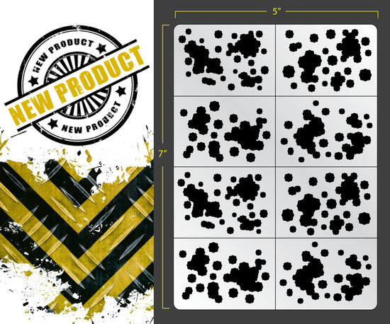 picture relating to Digital Camo Stencil Printable called Stencils  FALLOUT HOBBIES